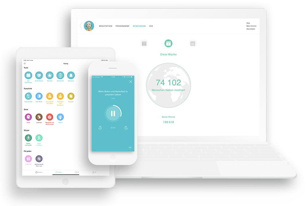 Symbole der App und der Website
